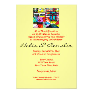Wedding - Mexican Couple Reflections Custom Invitations