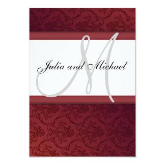 Wedding Monogram 5x7 Paper Invitation Card