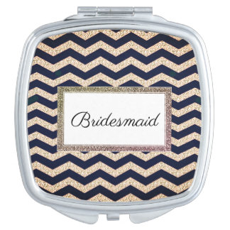 Wedding-Monogram-Champagne-Navy-Compact's Vanity Mirrors