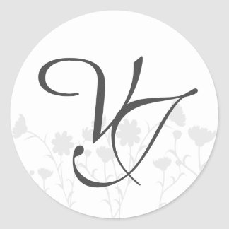Wedding Monogram Sticker - Envelope - Modern
