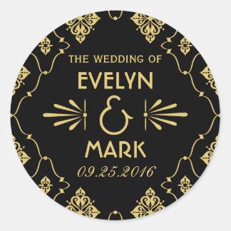 Wedding Monogram Stickers   Art Deco