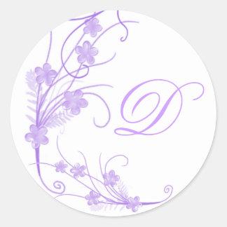 Wedding Monogramed Envelope Seal Round Sticker