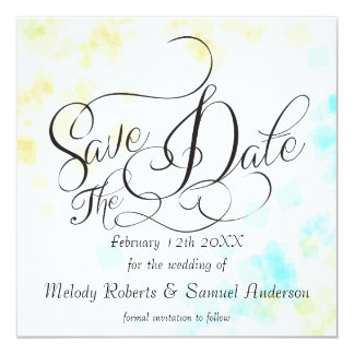 WEDDING -Mr and Mrs | Pastel Beach Colors Confetti Card