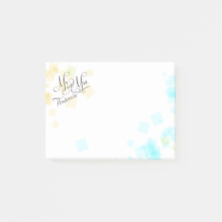 WEDDING -Mr and Mrs | Pastel Beach Colors Confetti Post-it Notes
