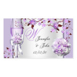 Wedding Name Place Lavender Purple Lilac 4 Pack Of Standard Business Cards