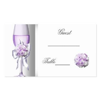 Wedding Name Place Lavender Purple Lilac B Business Card