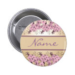 Wedding name tags - customisable pink orchids