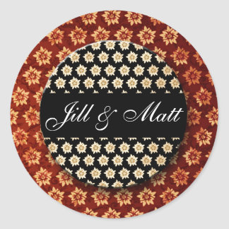 wedding_names_custom round sticker