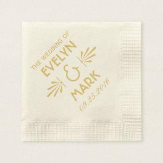 Wedding Napkins | Art Deco Style Disposable Serviette