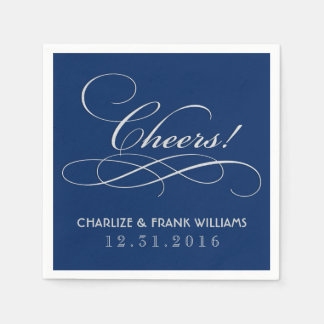 Wedding Napkins | Cheers Custom Design Disposable Serviette