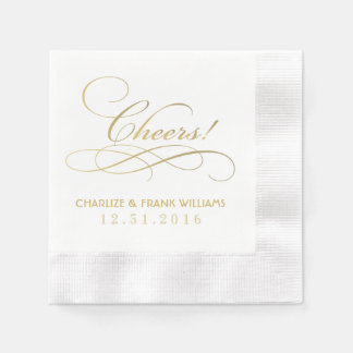 Wedding Napkins   Cheers Custom Design Disposable Serviette