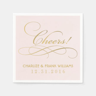 Wedding Napkins   Cheers Monogram Paper Napkin
