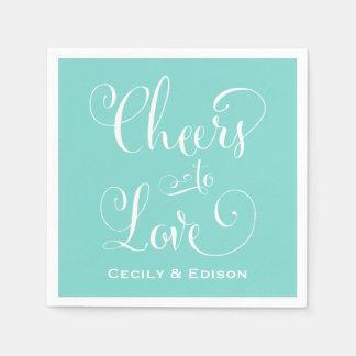 Wedding Napkins | Cheers to Love Design Disposable Napkins