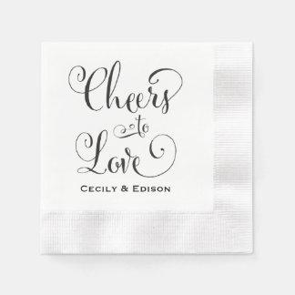 Wedding Napkins | Cheers to Love Design Disposable Serviette