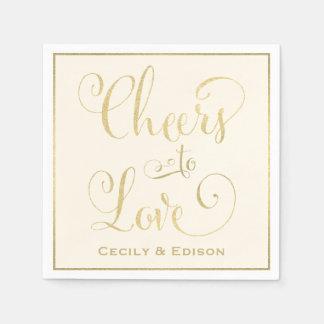 Wedding Napkins   Cheers to Love Design Disposable Serviette