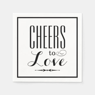 Wedding Napkins | Cheers to Love Design Disposable Serviette