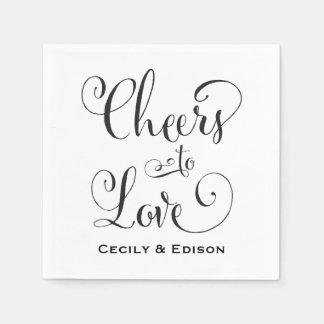 Wedding Napkins | Cheers to Love Design Disposable Serviettes