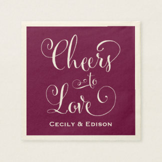 Wedding Napkins | Cheers to Love Design Paper Napkin