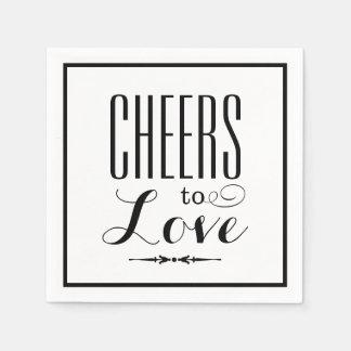 Wedding Napkins | Cheers to Love Design Paper Napkins