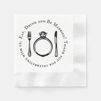 Wedding Napkins | Eat Drink and Be Married Disposable Serviettes