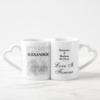 Wedding | Newlyweds Bride And Groom Personalised Coffee Mug Set