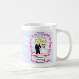 "Wedding/Newlyweds Cake Topper ""Add-A-Head Shot""™ Basic White Mug"