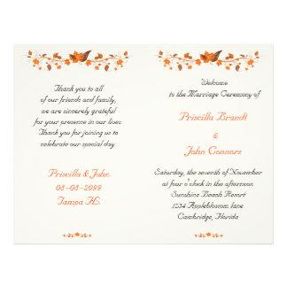 wedding nice program,low price,require to assemble 21.5 cm x 28 cm flyer