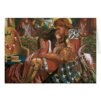 Wedding of St George, Princess Sabra by Rossetti Card
