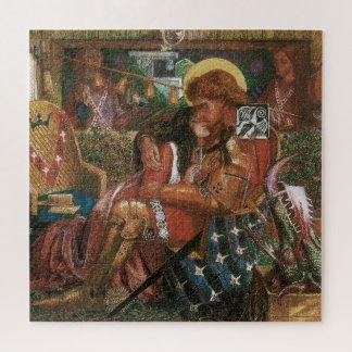 Wedding of St George, Princess Sabra by Rossetti Jigsaw Puzzle