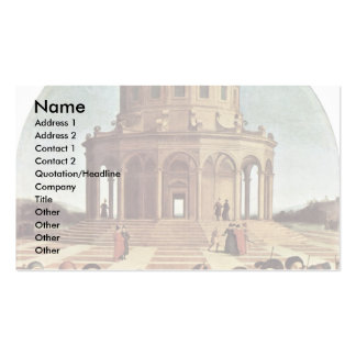 Wedding Of The Virgin By Raffael (Best Quality) Business Card Template