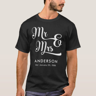 Wedding or Anniversary Mr and Mrs. Your Last Name T-Shirt
