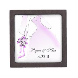 Wedding or Bridal Shower Favor Photo Gift Box Premium Keepsake Box
