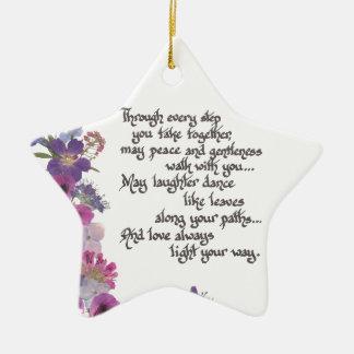 Wedding or Engagement Gift Ceramic Ornament