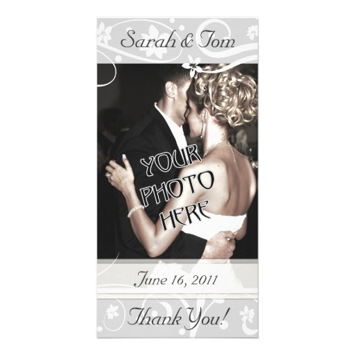 Wedding or Other Thank You Customized Photo Card