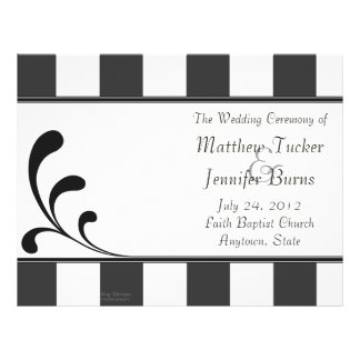 Wedding Order of Service and Ceremony Program 21.5 Cm X 28 Cm Flyer