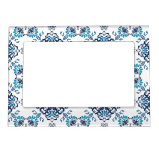 Wedding paisley tradition elegant pattern magnetic picture frame