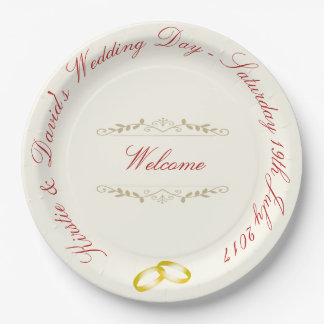 Wedding Paper Plate with ornate graphics