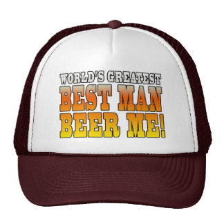 Wedding Parties Favors : Worlds Greatest Best Man Hat
