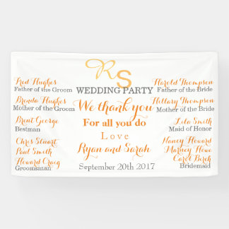 Wedding party Banner
