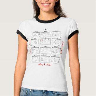 Wedding Party Calendar 2011 Heart T-shirt