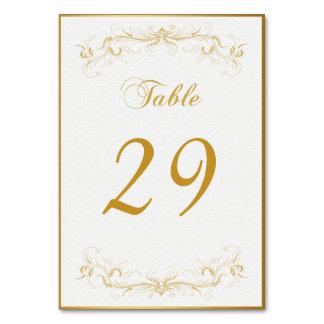 Wedding Party Elegant Gold Table Card