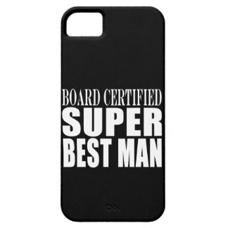 Wedding Party Favor Board Certified Super Best Man iPhone 5 Cover
