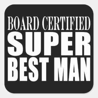 Wedding Party Favor Board Certified Super Best Man Sticker