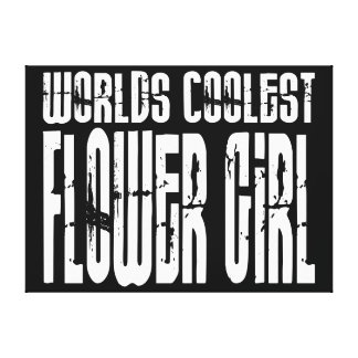 Wedding Party Favors Worlds Coolest Flower Girl Gallery Wrap Canvas