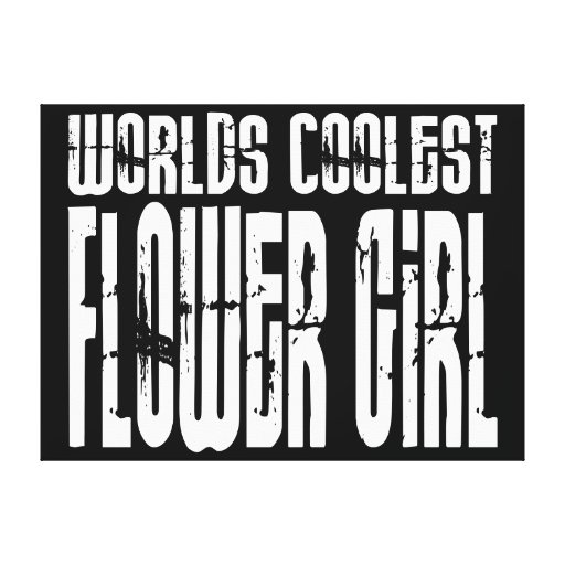 Wedding Party Favors : Worlds Coolest Flower Girl Gallery Wrap Canvas