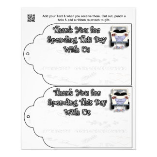 Wedding Party gift or favor Bag Tags 11.5 Cm X 14 Cm Flyer