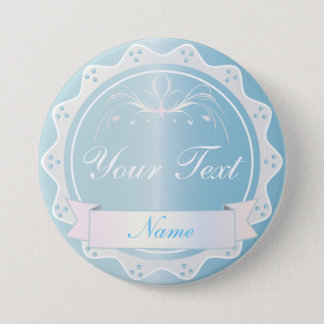 Wedding Party Light Blue 7.5 Cm Round Badge