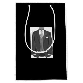 Wedding Party Tuxedo Groomsman Black Gift Bag