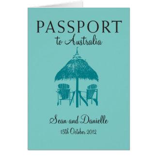 Wedding Passport Invitation to Australia