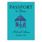 Wedding Passport Invitation to Cancun Mexico
